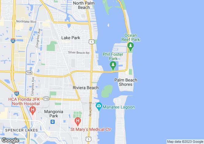 Map for Riviera Beach, Palm Beach County, Florida