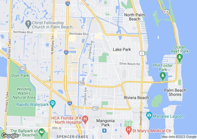 Map for USA - Florida, Palm Beach County, Riviera Beach