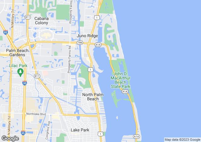 Map for North Palm Beach, Palm Beach County, Florida