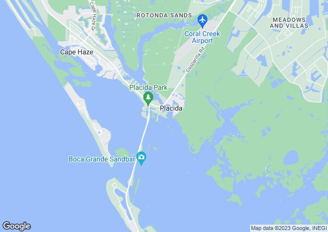 Map for USA - Florida, Charlotte County, Placida