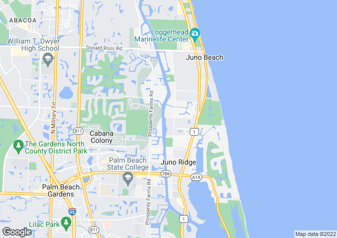Map for North Palm Beach, Palm Beach County, Florida