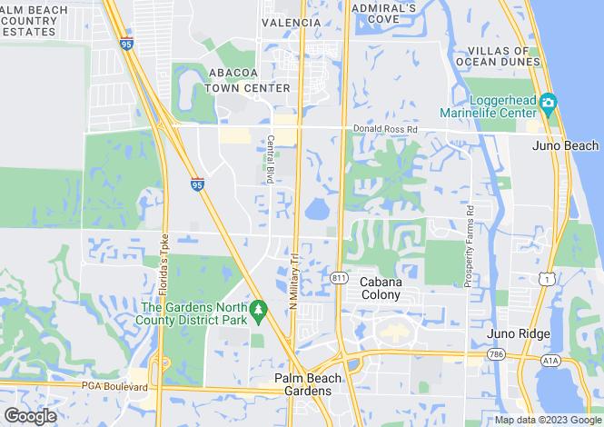 Map for USA - Florida, Palm Beach County, Palm Beach Gardens