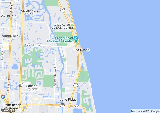 Map for USA - Florida, Palm Beach County, Juno Beach