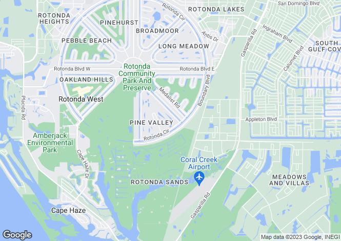 Map for Florida, Charlotte County, Rotonda