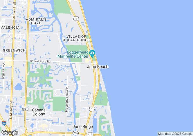 Map for Juno Beach, Palm Beach County, Florida