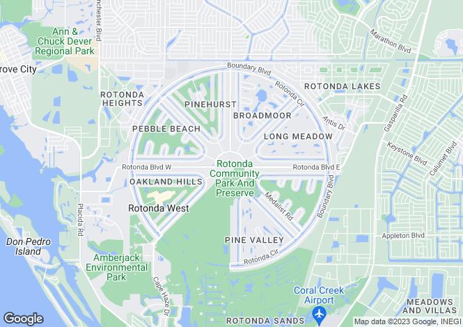 Map for Rotonda, Charlotte County, Florida
