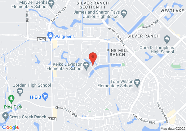 Map of 26810 Pine Mill Ranch Drive, Katy, TX, USA