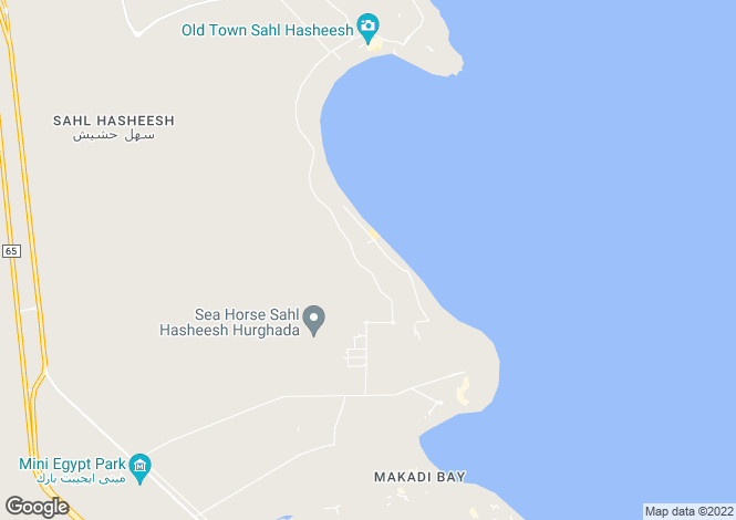 Map for Sahl Hasheesh, Red Sea