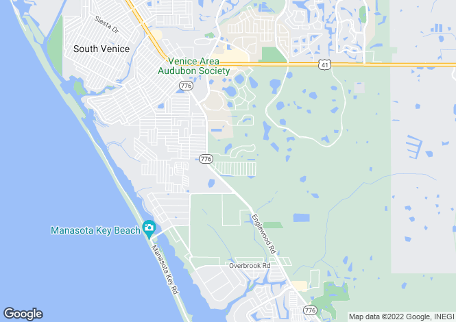 Map for USA - Florida, Sarasota County, Venice