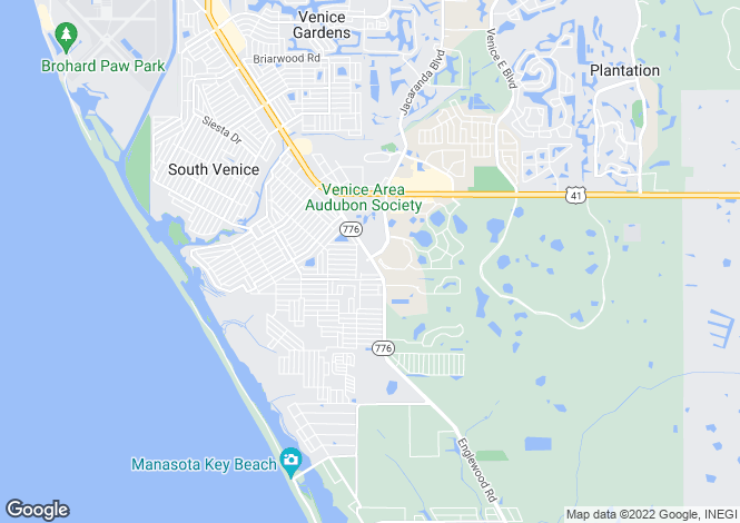 Map for USA - Florida, Sarasota County, Venice