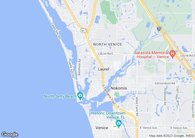 Map for USA - Florida, Sarasota County, Nokomis