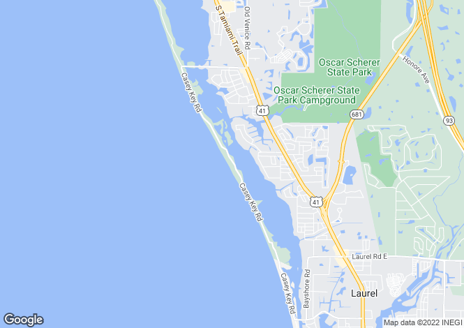 Map for Florida, Sarasota County, Nokomis