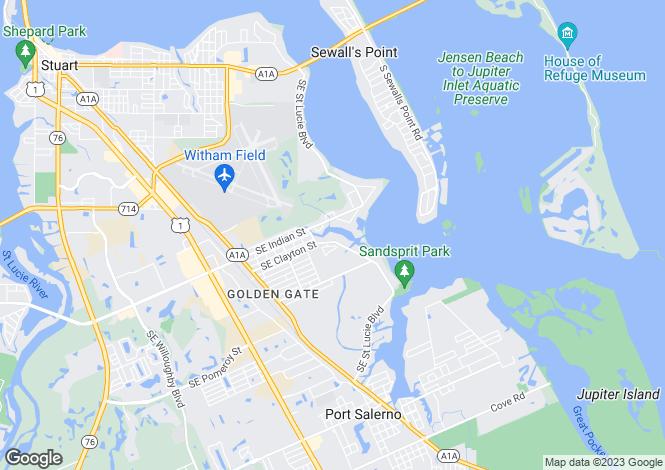 Map for Stuart, Martin County, Florida