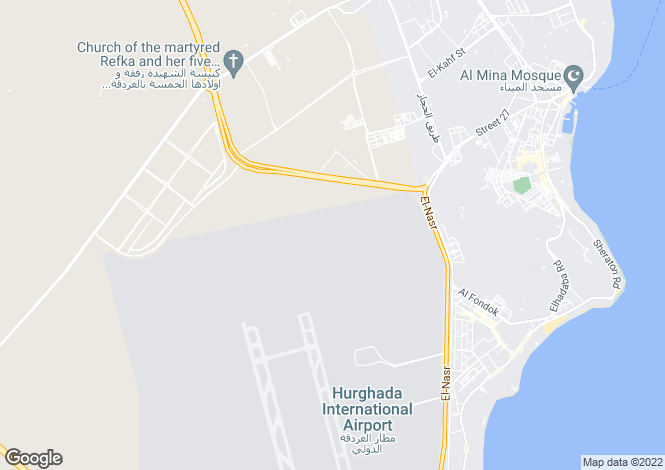 Map for Red Sea, Hurghada