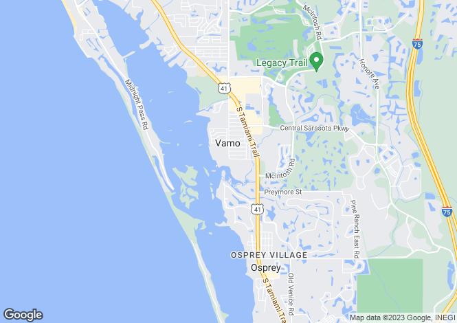 Map for 401 North Point Road #704, Osprey, Sarasota, Florida