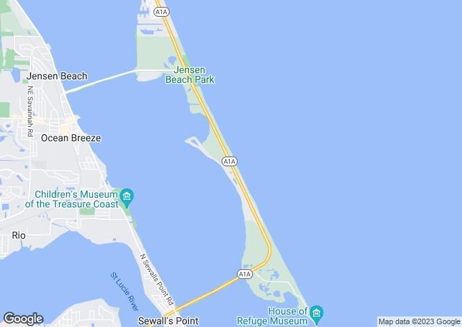 Map for Jensen Beach, Martin County, Florida
