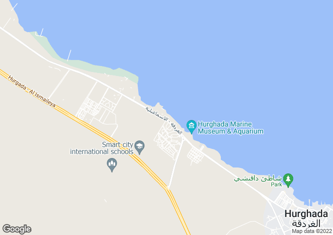 Map for Hurghada, Red Sea