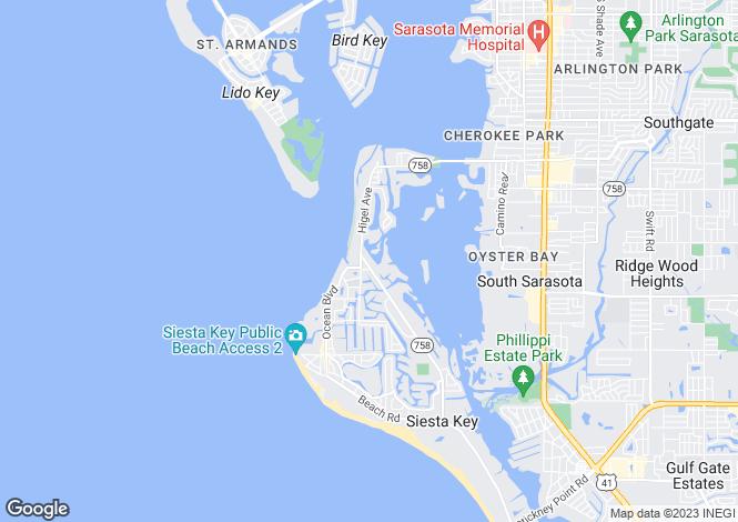 Map for 4401 Midnight Pass Road, Sarasota, Florida