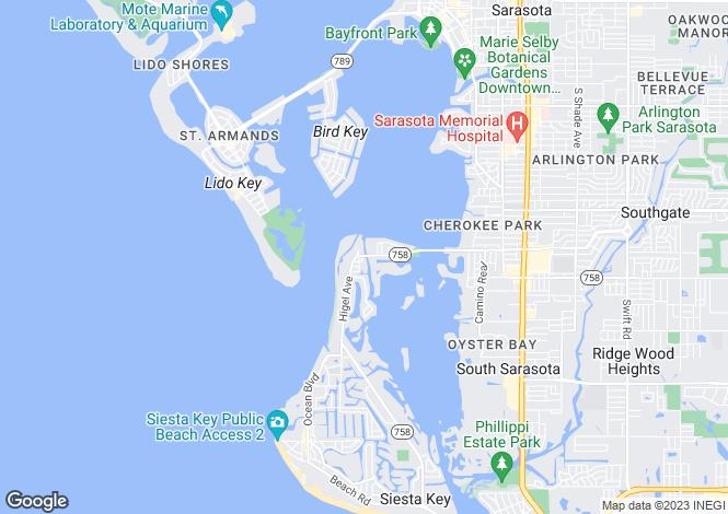 Map for 3505 White Lane, Sarasota, Florida