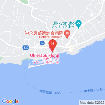おきえらぶフローラルホテルの地図