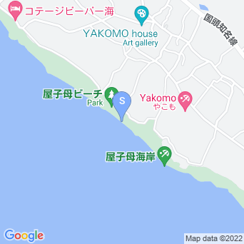 屋子母海岸の地図