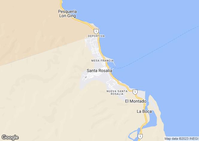 Map for Santa Rosalia