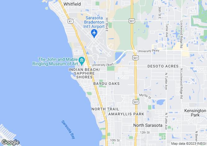 Map for Florida, Sarasota County, Sarasota