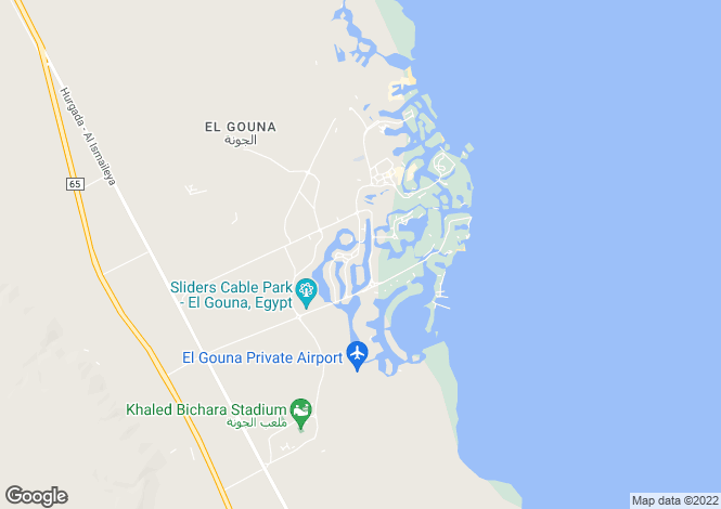 Map for Red Sea, El Gouna