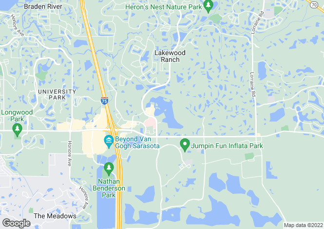 Map for USA - Florida, Manatee County, Lakewood Ranch