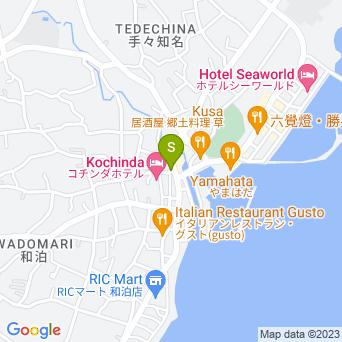 【和泊】アトリエレンタカーの地図
