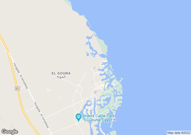 Map for El Gouna, Red Sea