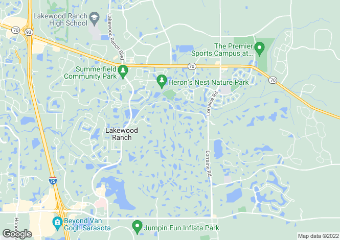 Map for USA - Florida, Manatee County, Lakewood Ranch