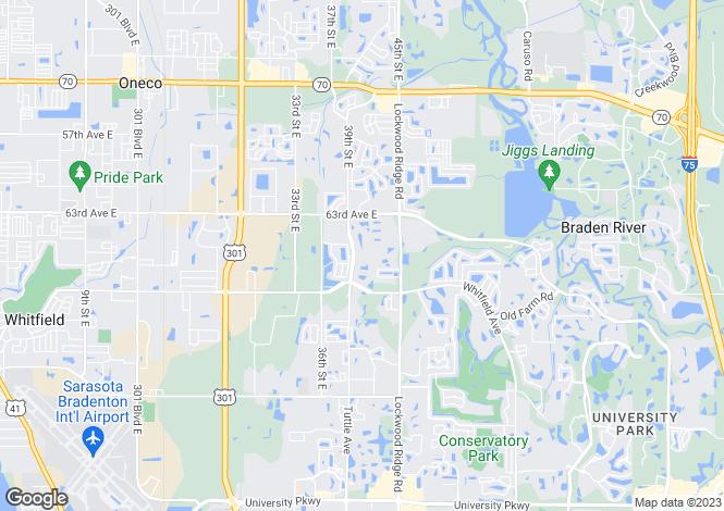 Map for USA - Florida, Sarasota County, Sarasota