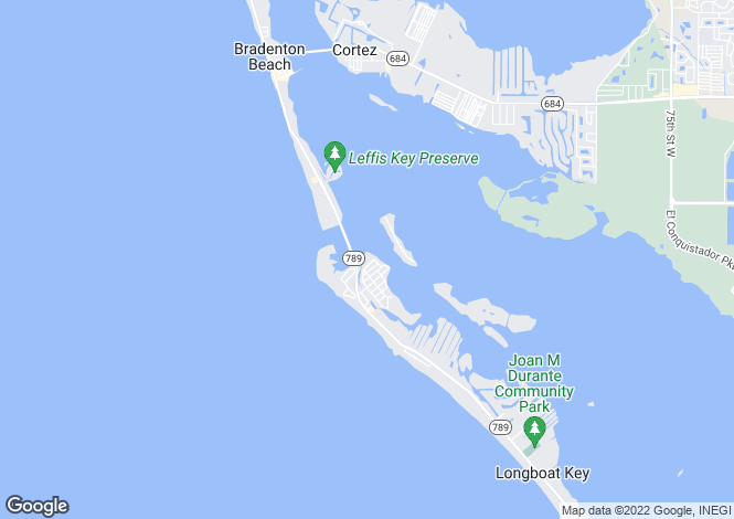 Map for Lands End Drive, Longboat Key, Florida