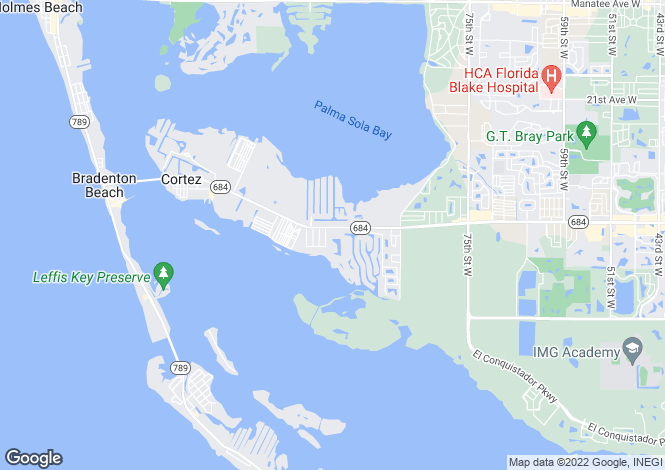 Map for USA - Florida, Manatee County, Bradenton