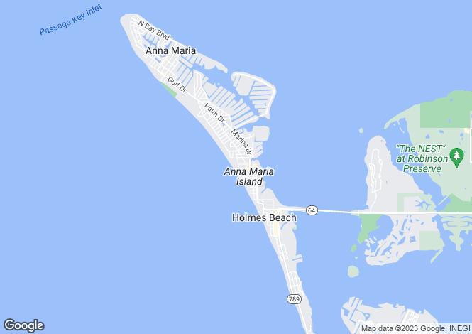 Map for USA - Florida, Manatee County, Holmes Beach