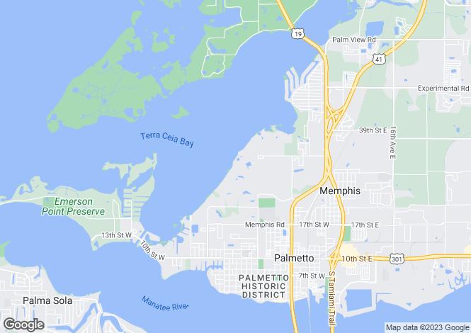 Map for USA - Florida, Manatee County, Palmetto
