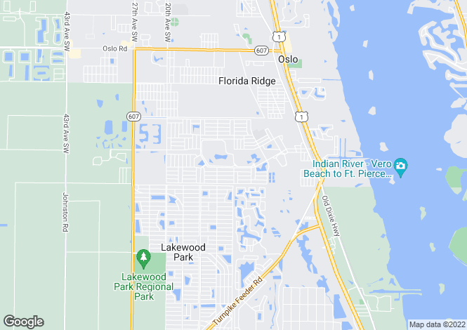 Map for USA - Florida, Indian River County, Vero Beach