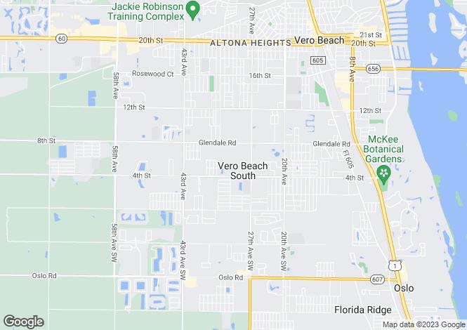 Map for Florida, Indian River County, Vero Beach