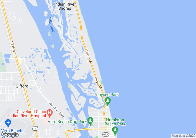 Map for Florida, Indian River County, Indian River Shores