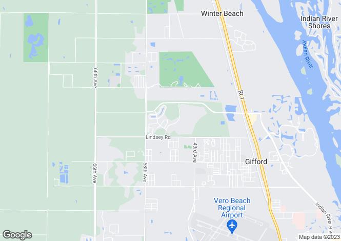 Map for USA - Florida, Indian River County, Vero Beach
