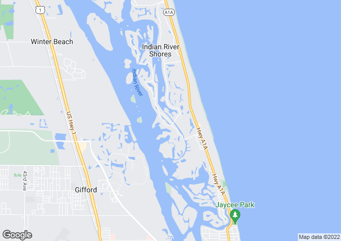 Map for Florida, Indian River County, Vero Beach