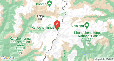 map of Kangchenjunga (India)
