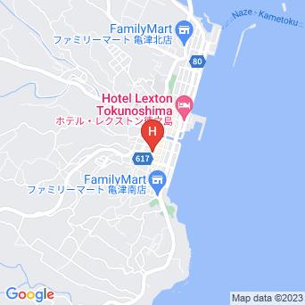 ビジネスホテル亀津石ホテルの地図