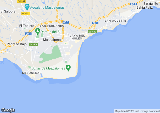 Map for Canary Islands, Gran Canaria, Maspalomas