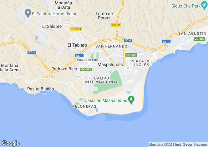 Map for Maspalomas, Gran Canaria, Spain