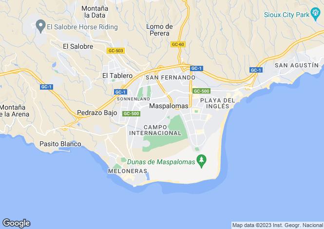 Map for Canary Islands, Gran Canaria, Maspalomas