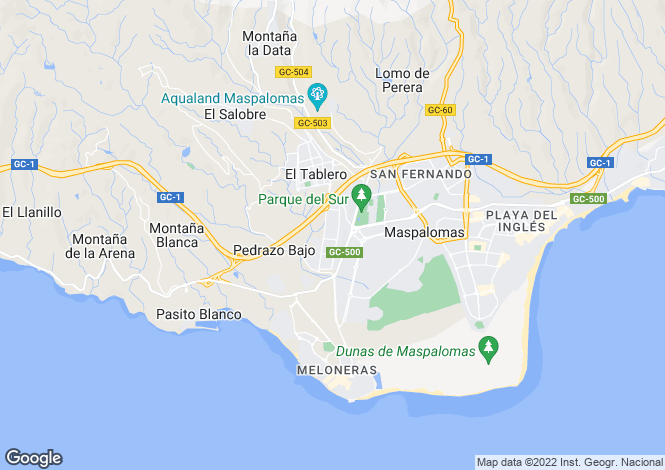 Map for Sonneland, Maspalomas, Gran Canaria, Canary Islands, Spain