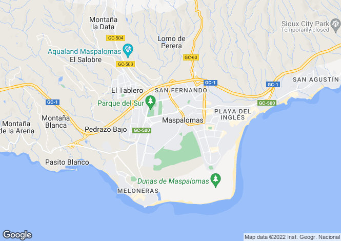 Map for Masplomas, Maspalomas, Gran Canaria, Canary Islands, Spain