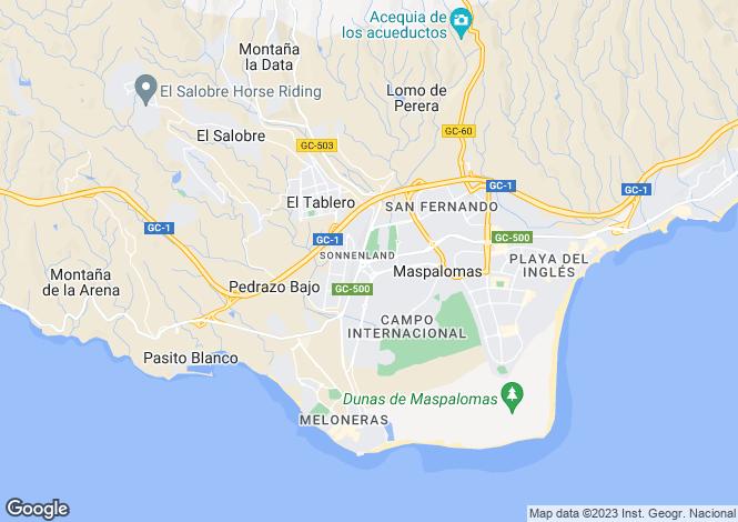 Map for Sonneland, Maspalomas, Las Palmas, Gran Canaria